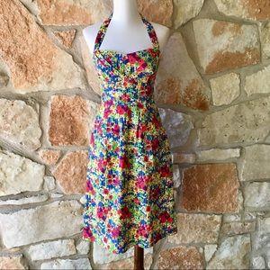Girls From Savoy Halter Floral Dress